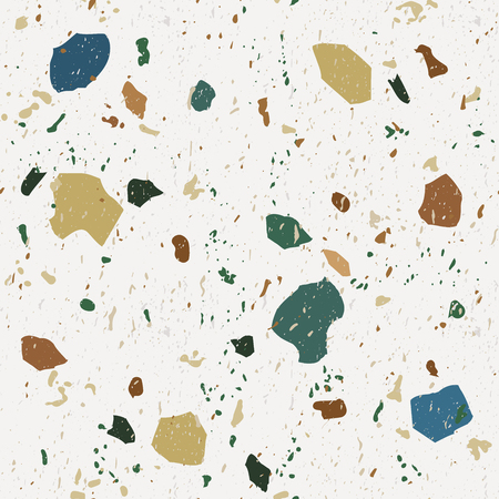 Terrazzo seamless patterns. Classic Italian marble.Vector abstract background.