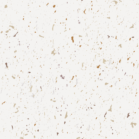 Terrazzo seamless patterns. Classic Italian marble. Vector abstract background. Beige and brown small crumb. Иллюстрация