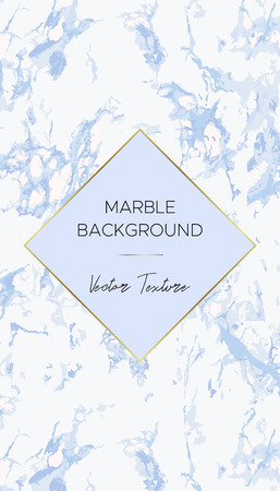 Blue Marble background. Chic the design layout card. Use for cover invitation cards, social media or business card. Vector.