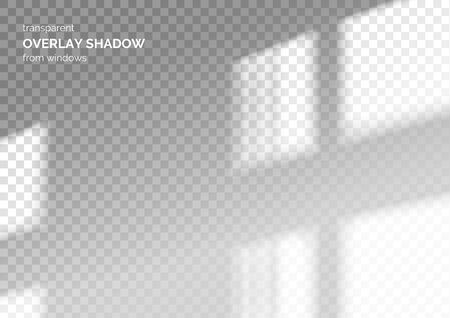 Transparent overlay shadow from the window. Scenes of natural lighting. Photo-realistic vector illustration.