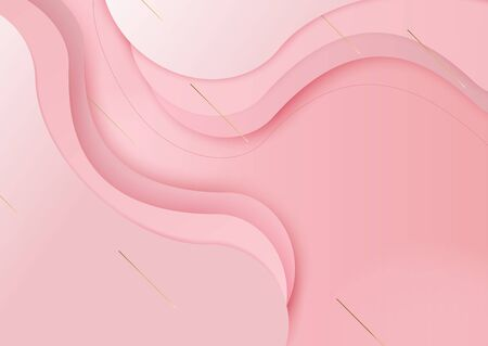 Pink overlap waved background with copy-space. Banner for advertising for Valentines day. You can use it as a background for websites, presentations, postcards, and invitations.