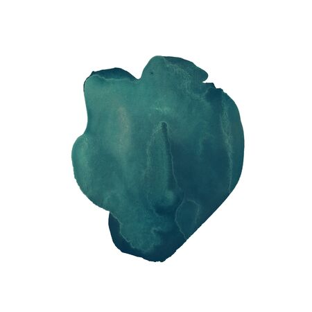 The emerald green hand drawn watercolor stain. Rich Azure color similar to malachite. Marble stone texture. It can be used for wrap, wallpaper, website, pattern, decor, print or textile