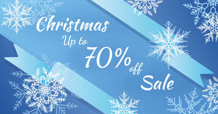 The horizontal blue banner sales. Christmas