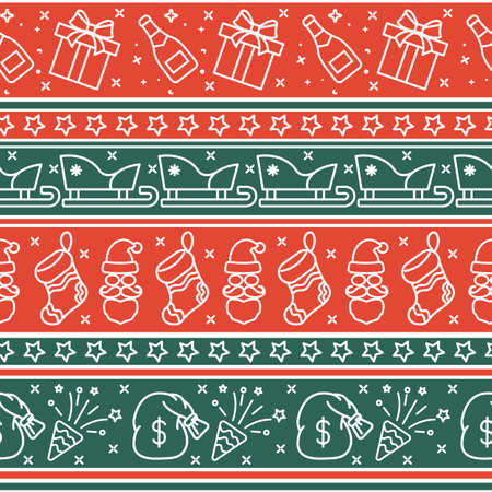 Scandinavian Christmas red seamless pattern