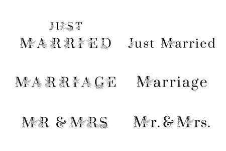 Stylish inscriptions for wedding invitation cards 矢量图像