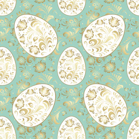 Seamless Easter pattern in pastel soft colors