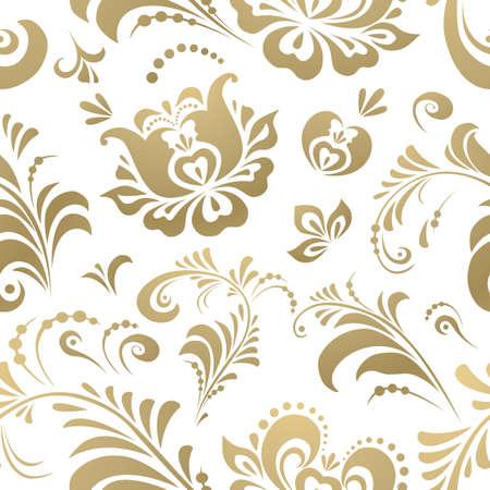 Russian Khokhloma ornament. Seamless Pattern