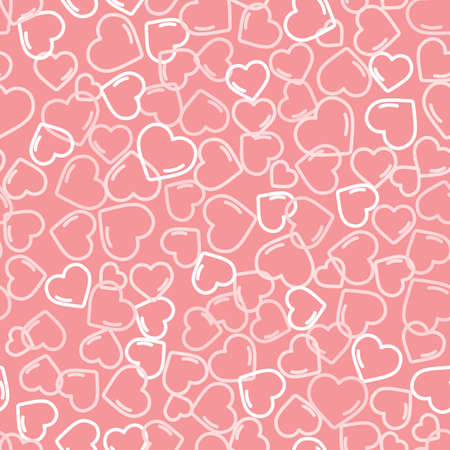 A pink romantic seamless pattern with hearts