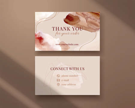 Business card template. Thank you for the order. Ilustracja