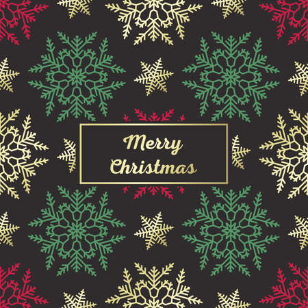 Seamless Christmas Pattern with greetings Merry Christmas