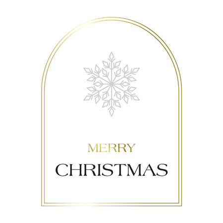 A Simple White Christmas Greeting Card with snowflake