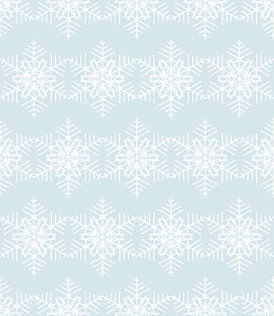 Seamless Christmas pattern. White lace made of snowflakes