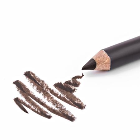 eyeliner, eye contour, collage, isolated on white background 写真素材