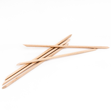 Sticks for nail care, isolated white background