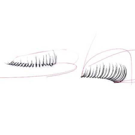 pestaÑas postizas: false eyelashes, black false eyelashes, isolated on white background
