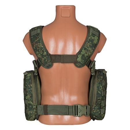 camuflaje, armadura de cuerpo militar, maniquí, aislado sobre fondo blanco