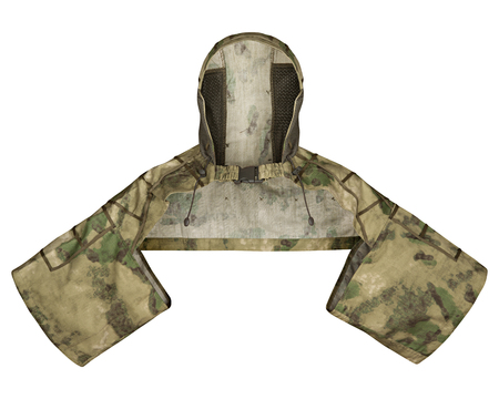 khaki: Tactical camouflage for soldiers, isolated white background