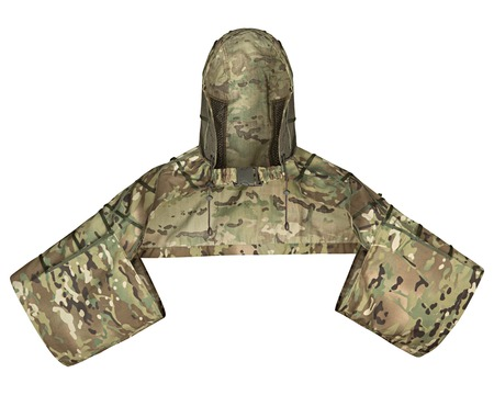 Tactical camouflage for soldiers, isolated white background