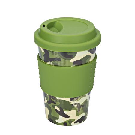 Mug of thermos, Camouflage mug, on isolated white background
