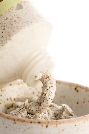sample cream scrub, cosmetics spa, white background
