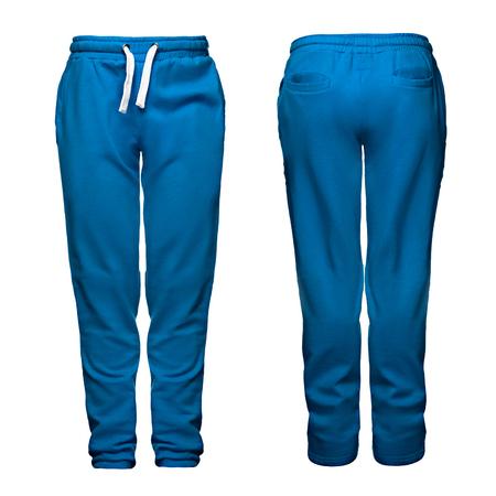 Sporthose, blau, isoliert auf weißem Hintergrund