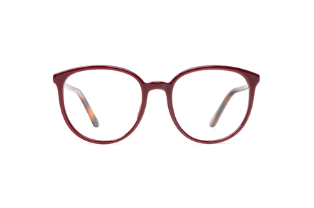 Eye glasses transparent for reading or good vision, front view isolated on white background. Glasses mockup. 写真素材