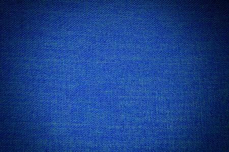 vignette: blue fabric texture with vignette filter Stock Photo