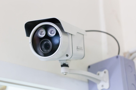 CCTV security camera in building