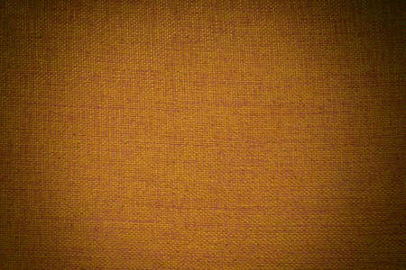 vignette: Brown fabric texture with vignette filter