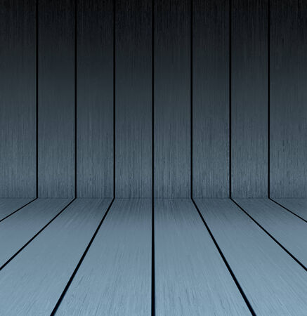 Dark wooden texture floor and wall in empty room
