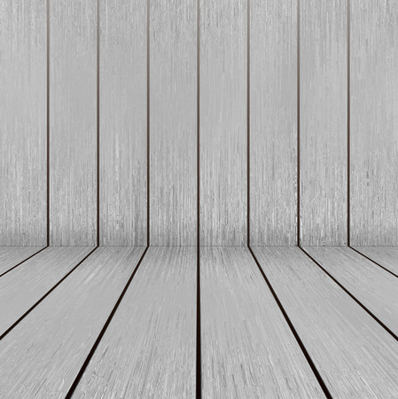 Bright wooden texture floor and wall in empty room Banco de Imagens