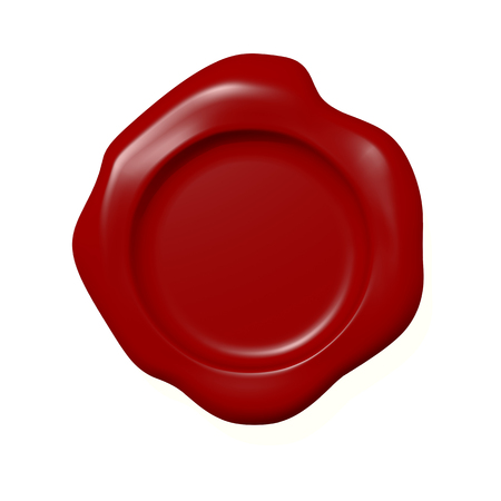 red stamp: sealing wax