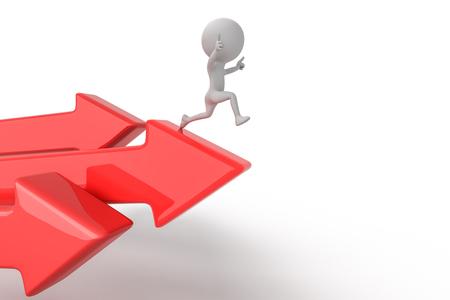 Image conceptuelle de la réussite et du saut Banque d'images - 98922449