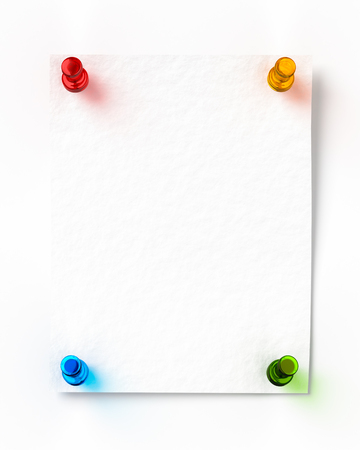 3d rendering of illustrate pinning notes Stock Photo