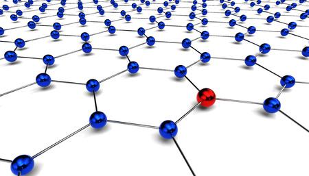 conceptual diagram of network 写真素材 - 104993895