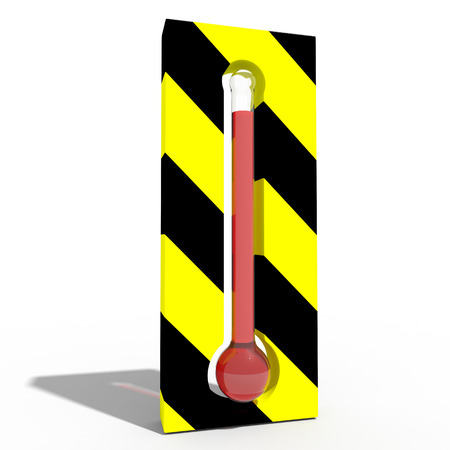 very high temperature Stock Photo