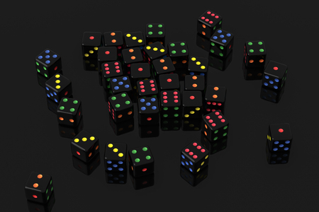 scattered dice