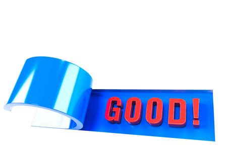 3D illustration of good news!