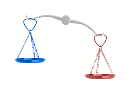 Imbalance scale Stock Photo