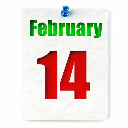 Valentines Day calendar 写真素材