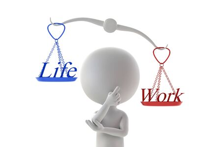Person who thinks about balance of life and work Фото со стока