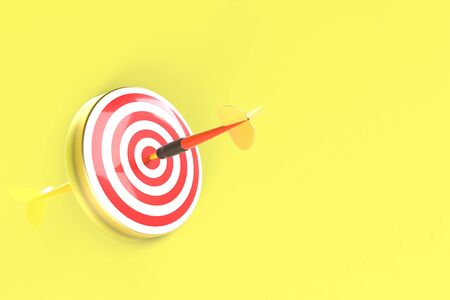 Arrows hitting the center of the target