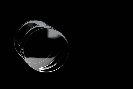 3d rendering of lens on black background