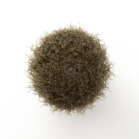 3D illustration of virus image
