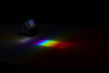 Illustration of the spectrum of a prism by 3D rendering