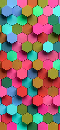 Hexapolygon 3D pattern for smartphones by 3D rendering