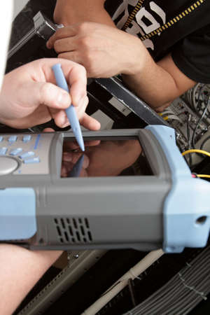 attenuation: The measurement of attenuation fiber-optic communication line