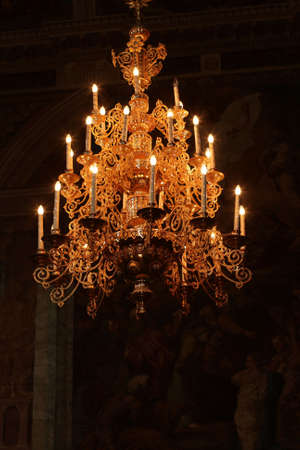 The chandelier in the orthodox church, Russia Stock Photo - 3278384