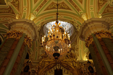 The interior of gilded orthodox church, Russia Stock Photo - 3390343
