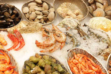 The fresh seafoods market and restaurant  is located Moscow Stock Photo - 3650218